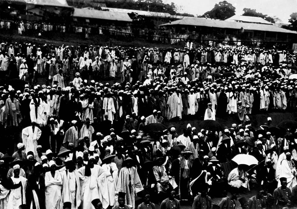 Mobilisation à Mamou en Guinée française