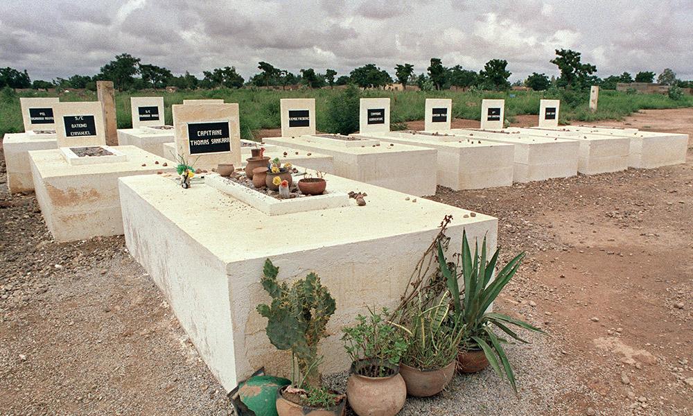 La tombe de Thomas Sankara le 4 août 1988. <br>© Pascal Guyot/AFP