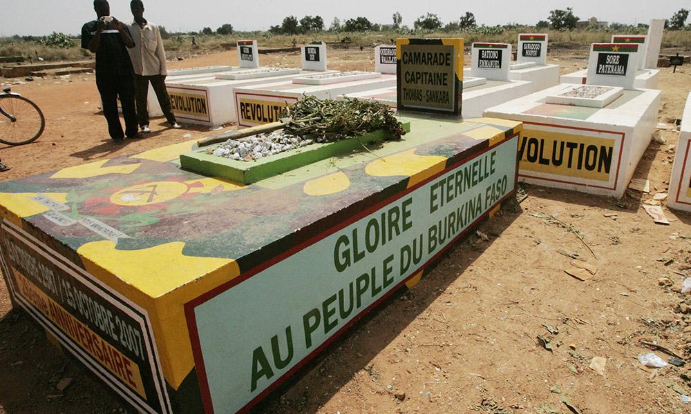 La tombe de Thomas Sankara le 16 octobre 2007. © Kambou Sia/AFP